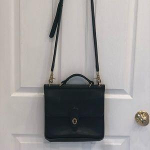 Vintage coach black messenger bag